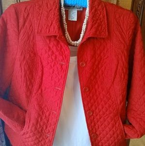 Quilted Red Jacket